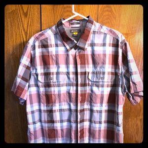 Men's XL Eddie Bauer plaid shortsleeved shirt